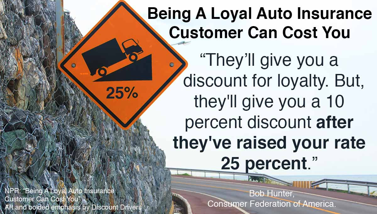 Loyal Car Insurance Discounts Cost You
